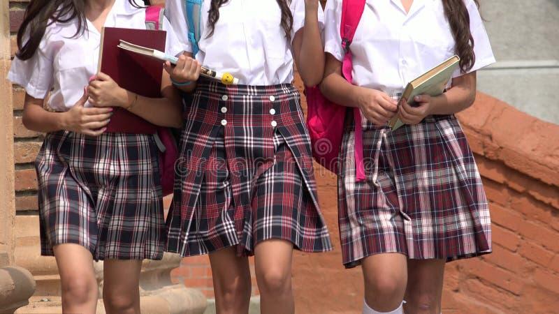 Étudiants féminins de lycée image stock