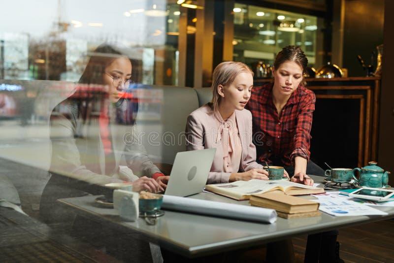 Étudiants faisant le travail ensemble photos libres de droits