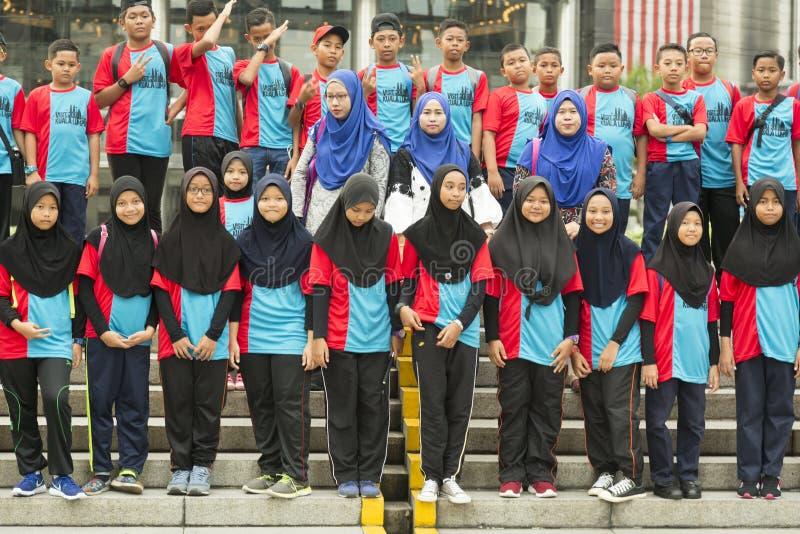 Étudiants malaisiens en Kuala Lumpur photographie stock