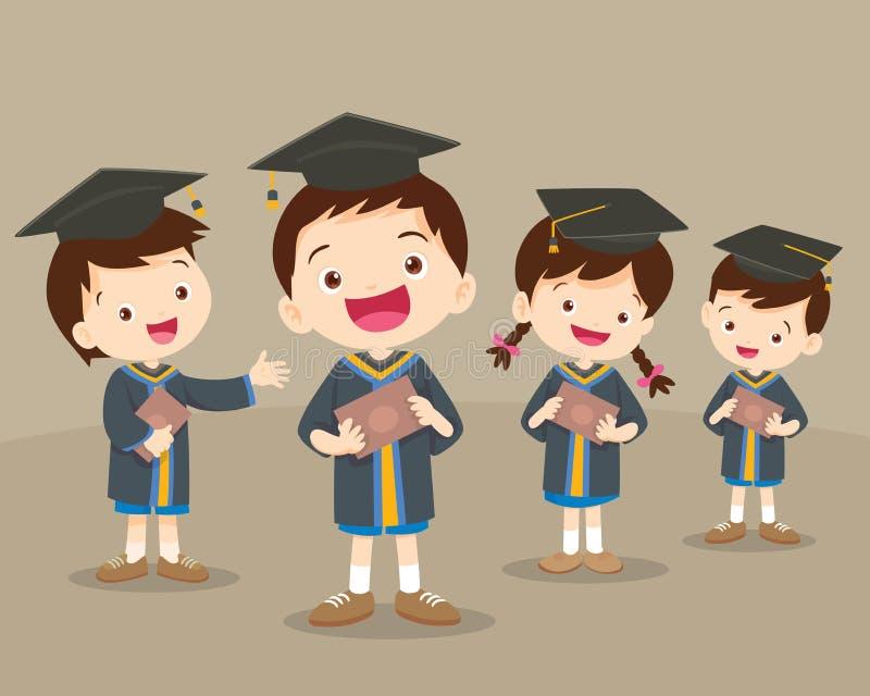 Étudiants mignons d'obtention du diplôme illustration stock