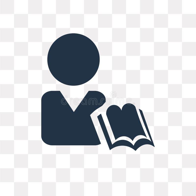Étudiez l'icône de vecteur d'isolement sur le fond transparent, tra d'étude illustration libre de droits