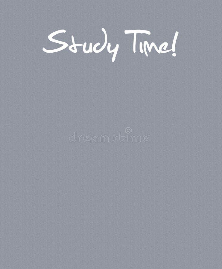 Étudiez le temps de nouveau à l'illustration d'école avec l'espace des textes images stock