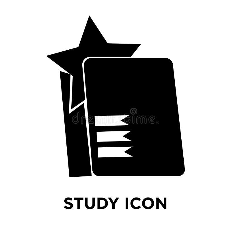 Étudiez le vecteur d'icône d'isolement sur le fond blanc, concept de logo de illustration libre de droits