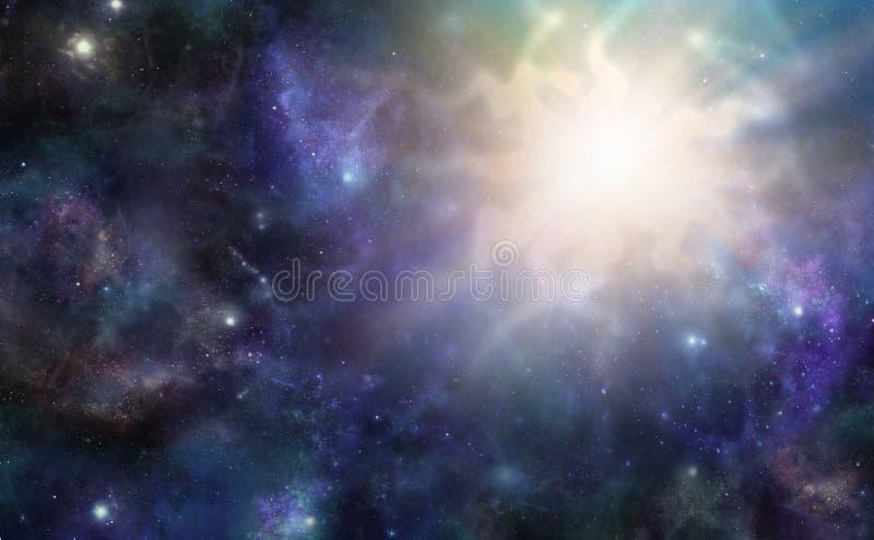 Événement cosmique massif d'espace lointain image libre de droits