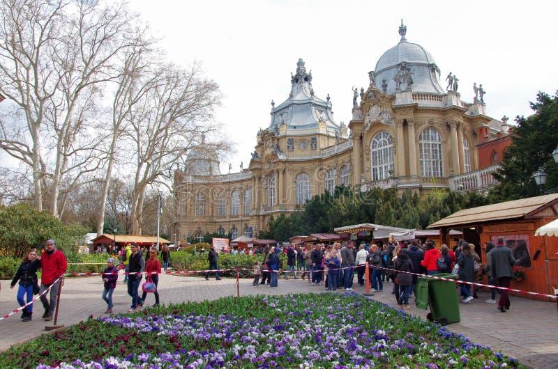 Événement dans le château de Vajdahunjad à Budapest photo libre de droits