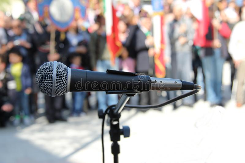 Événement de microphone photographie stock