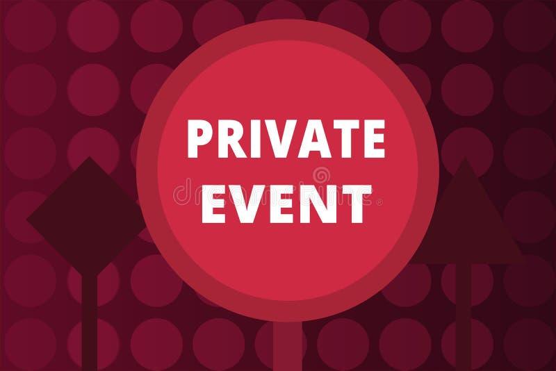 Événement privé des textes d'écriture de Word Concept d'affaires pour d'invitation exclusif des réservations RSVP posé illustration stock