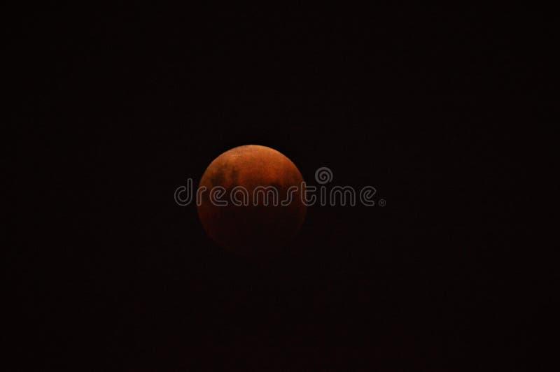 Événement superbe de lune de sang bleu le 31 janvier 2018 images libres de droits