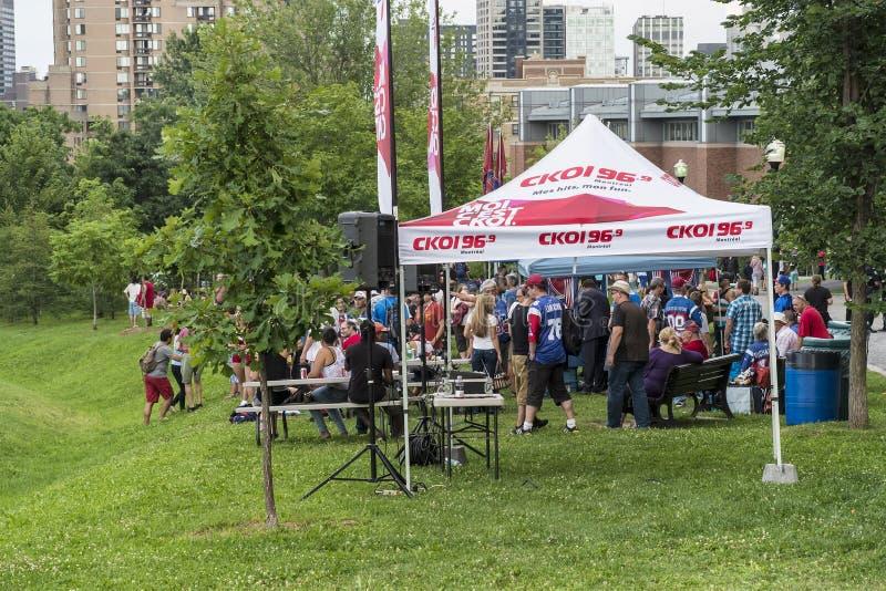 Événement sur Mont Royal Montreal photos libres de droits