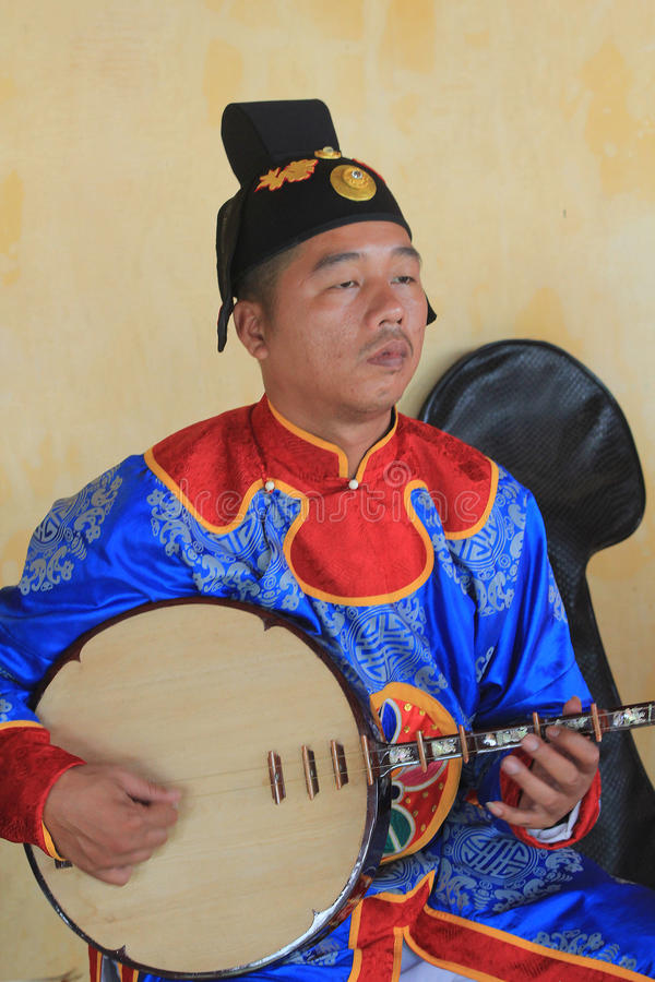 Événement traditionnel de représentation de musique du Vietnam photos libres de droits