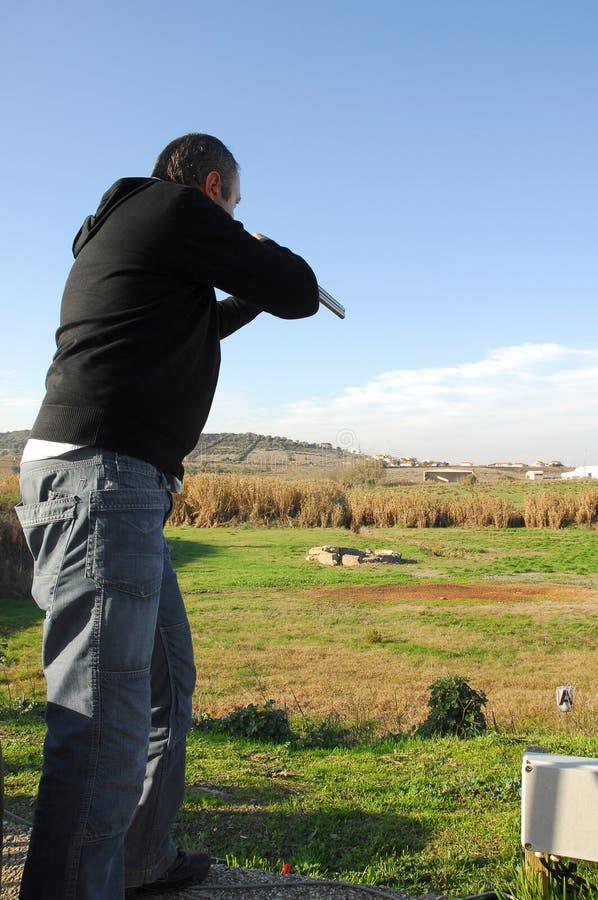 Événements de fusil de chasse - trappe images libres de droits