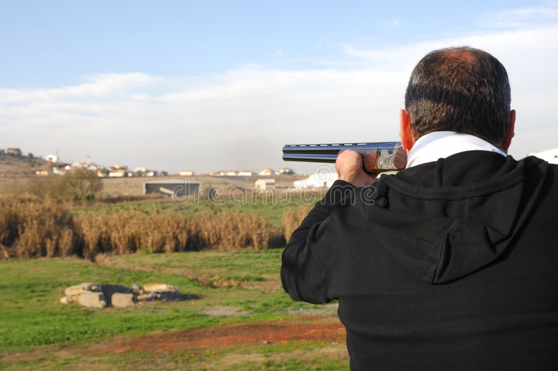 Événements de fusil de chasse - trappe photo stock