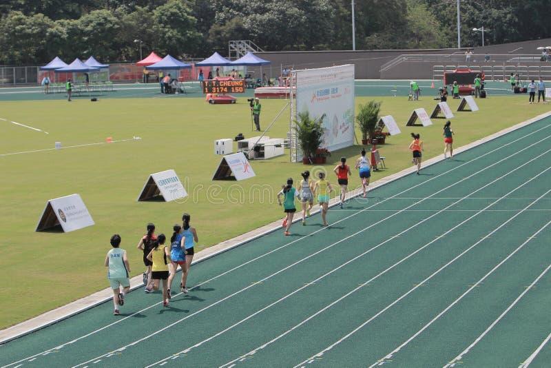 Événements de voie pendant 6ème Hong Kong Games photographie stock libre de droits
