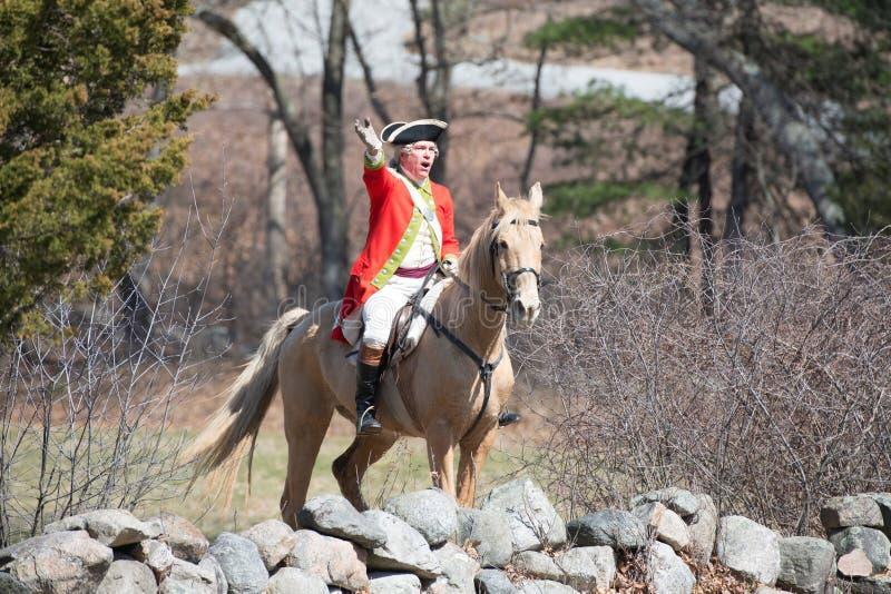 Événements historiques de reconstitution à Lexington, mA, Etats-Unis images libres de droits