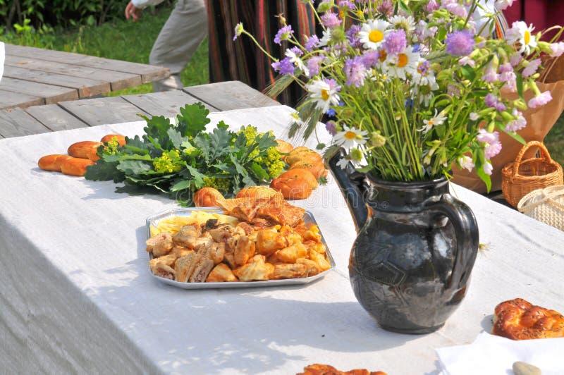Événements lettons traditionnels Ligo photos stock
