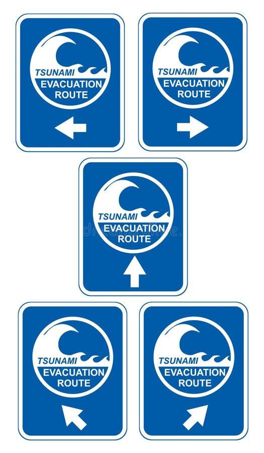 Évacuation de tsunami illustration libre de droits