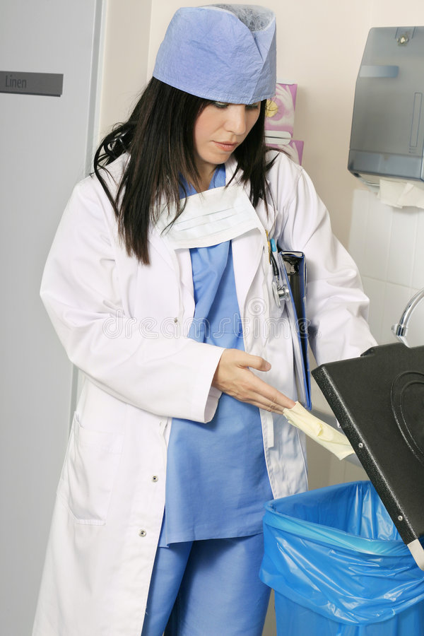 Évacuation des déchets clinique photos libres de droits