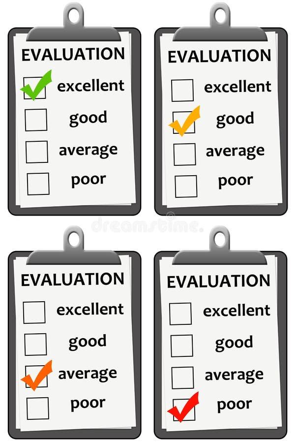 Évaluation illustration de vecteur