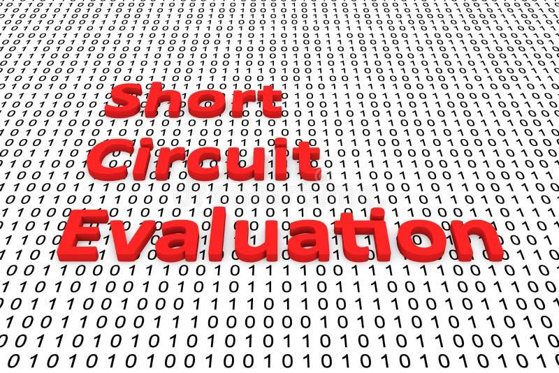 Évaluation de court-circuit illustration libre de droits