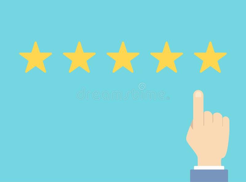 Évaluation de la qualité d'étoile illustration libre de droits