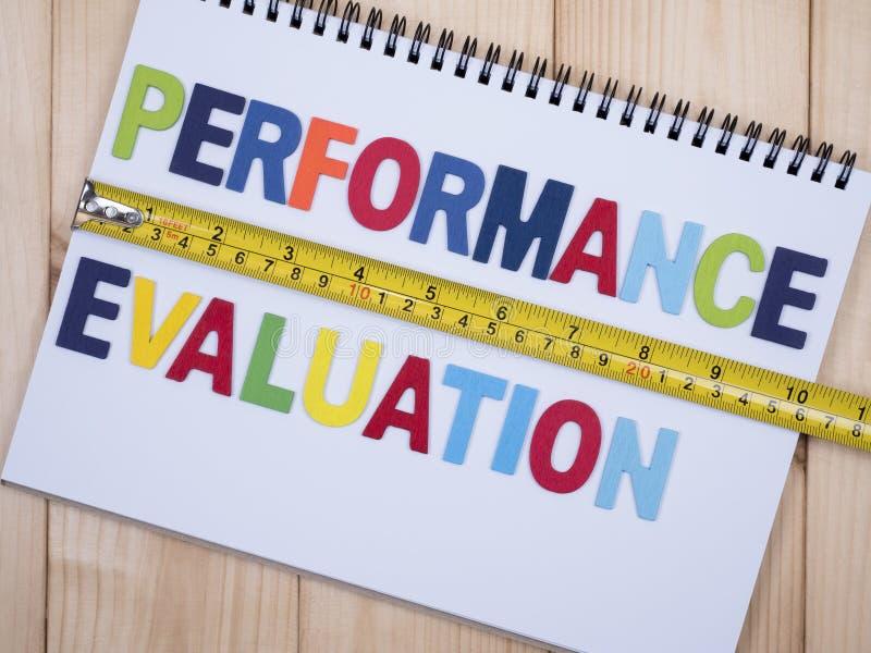 Évaluation des performances 1 images libres de droits