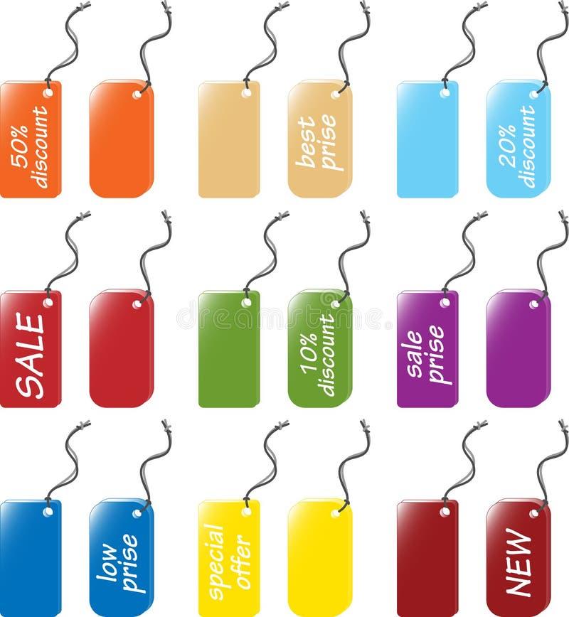 Évaluez et les étiquettes étiquettent des positionnements illustration libre de droits
