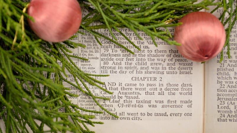 Évangile de Luc, histoire de Noël image libre de droits