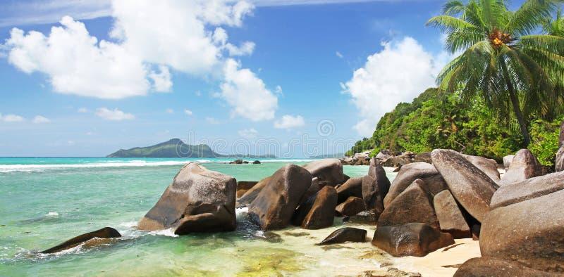 Évasion des Seychelles au paradis image stock