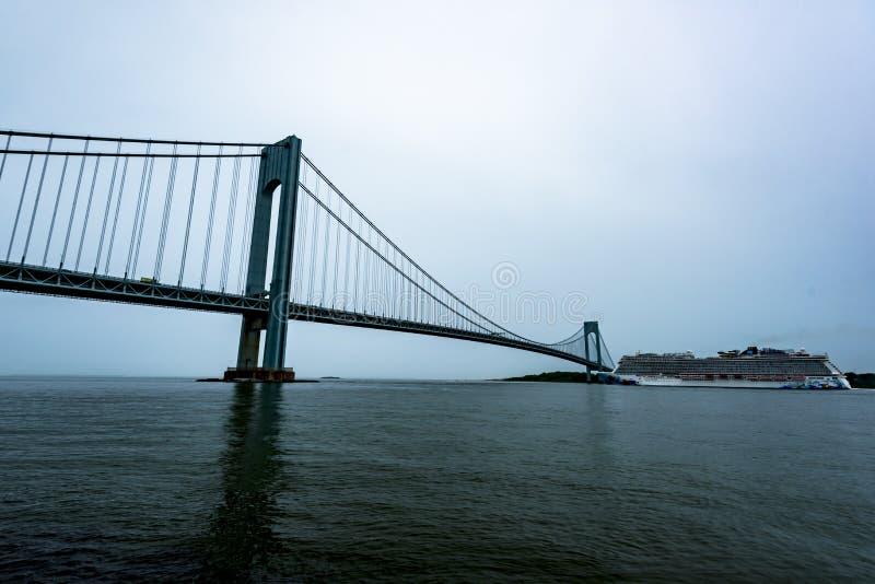 Évasion norvégienne quittant New York City photographie stock