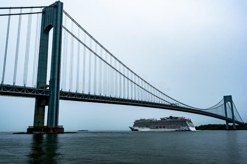 Évasion norvégienne quittant New York City photo libre de droits