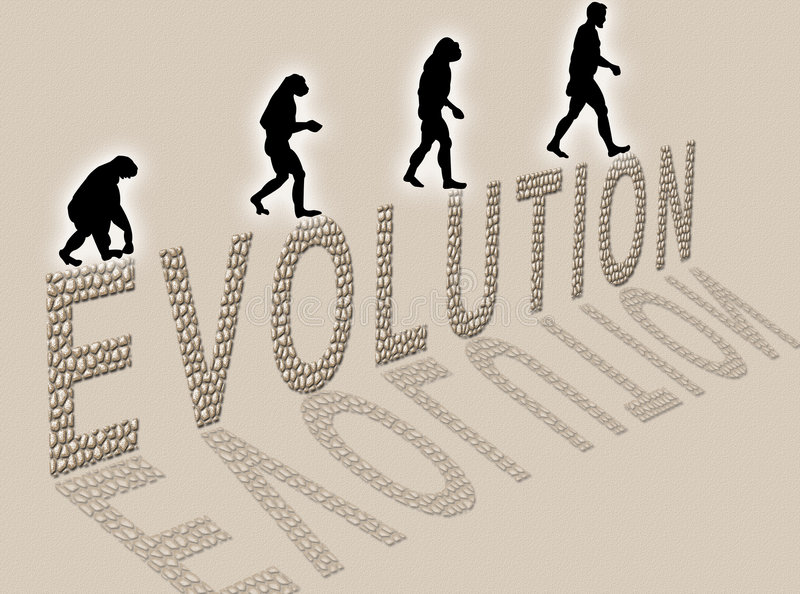 Évolution illustration stock
