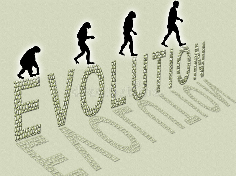Évolution illustration libre de droits