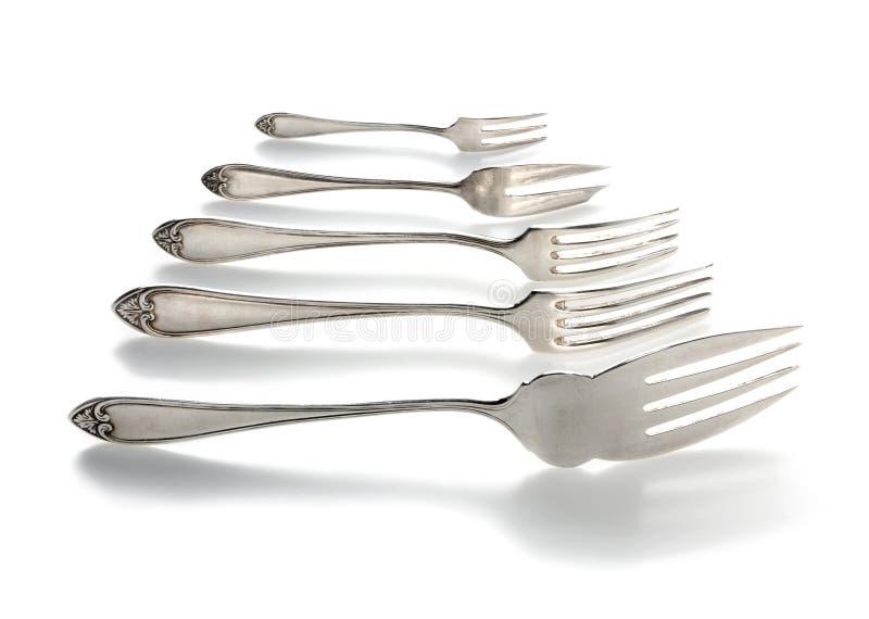 Évolution de fourchette photographie stock