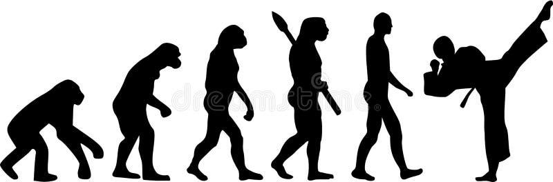 Évolution de karaté illustration de vecteur