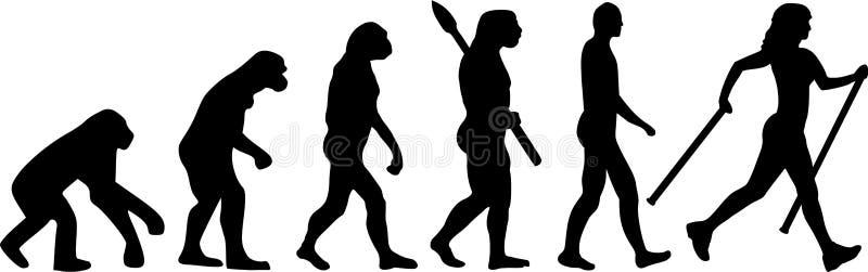 Évolution de marche de nordic illustration libre de droits