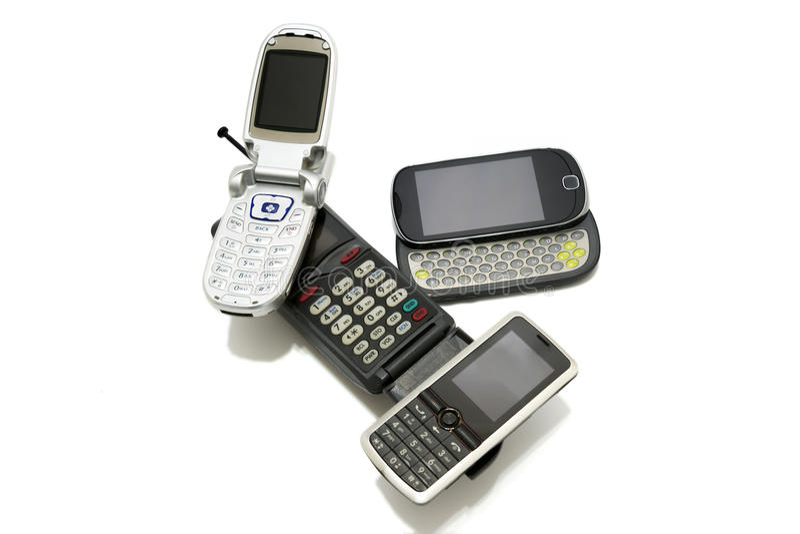 Évolution de téléphones portables photos libres de droits