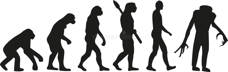 Évolution de zombi morte illustration de vecteur