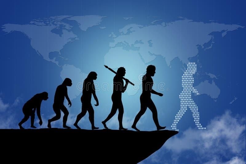 Évolution humaine illustration libre de droits