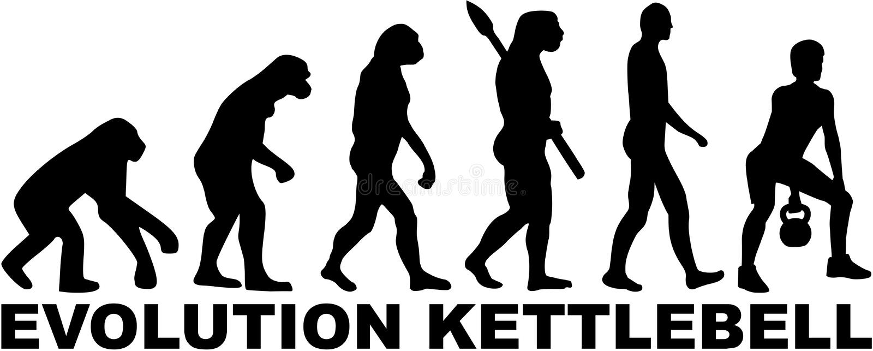 Évolution Kettlebell illustration stock