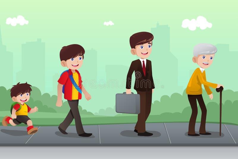 Évolution ou concept vieillissant illustration stock