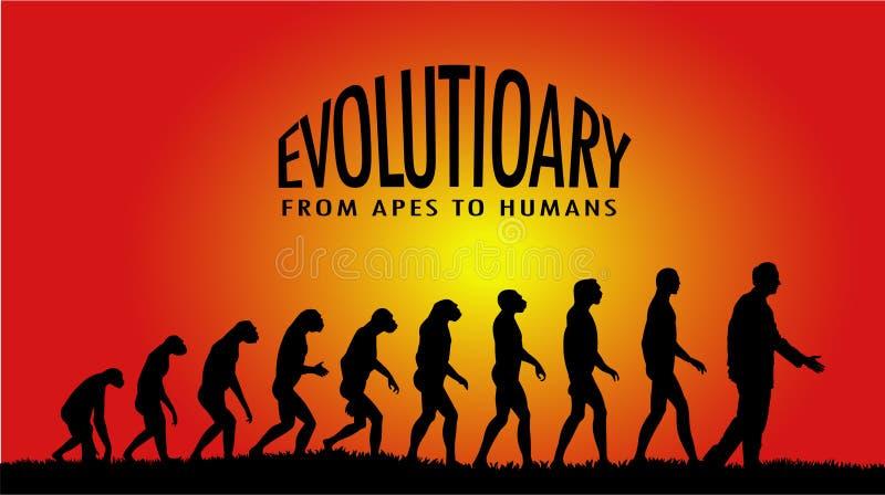 Évolutionnaire illustration libre de droits