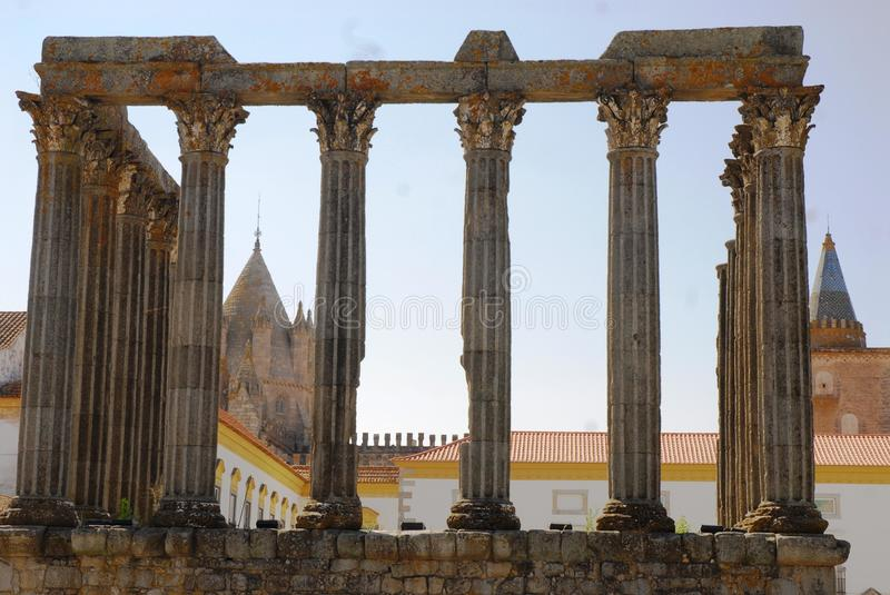 Évora. Is the largest Portuguese city of the Alentejo region and capital of the district of the same name. It is home to the second-oldest university only stock images