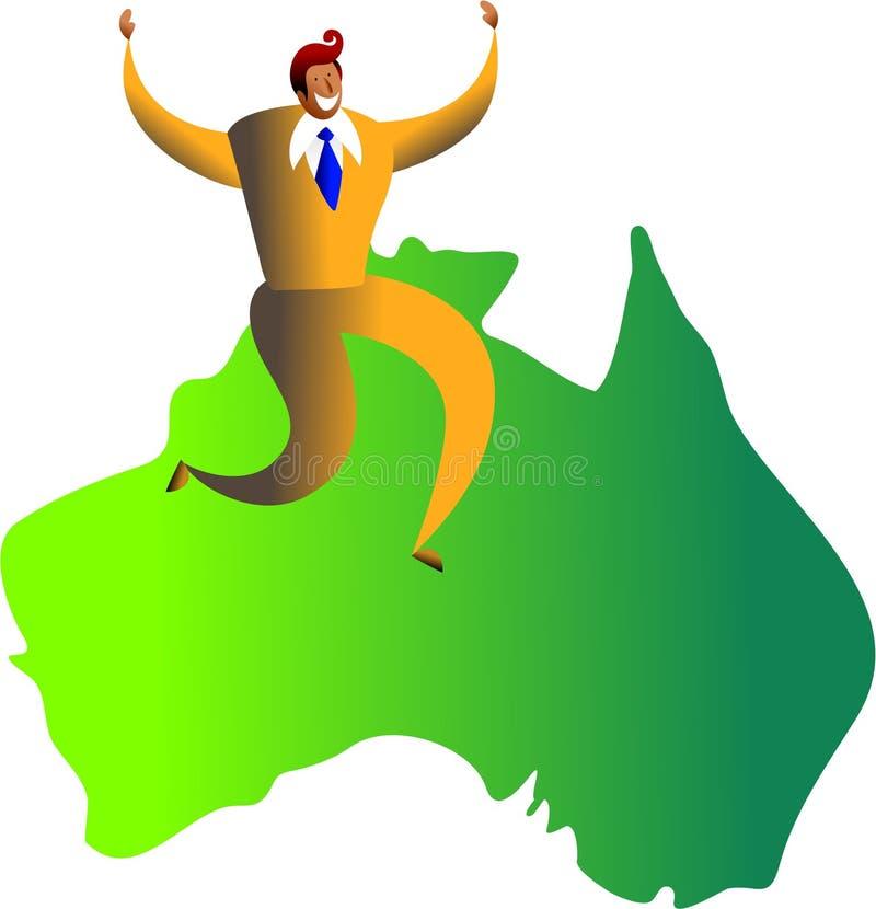 Éxito australiano ilustración del vector