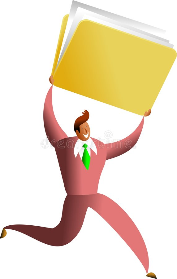 Éxito de la carpeta stock de ilustración