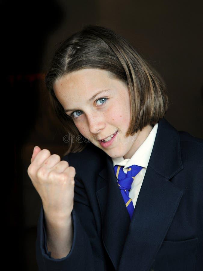Éxito de la muchacha de la escuela imágenes de archivo libres de regalías