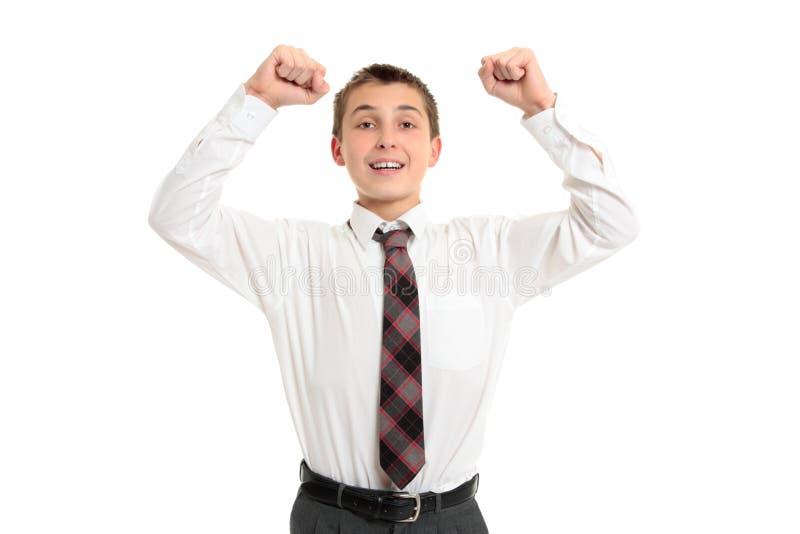 Éxito de la victoria del estudiante de la escuela imagenes de archivo