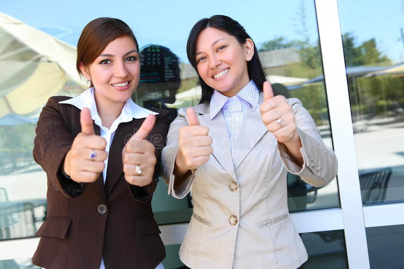 Éxito de las mujeres de negocios foto de archivo libre de regalías
