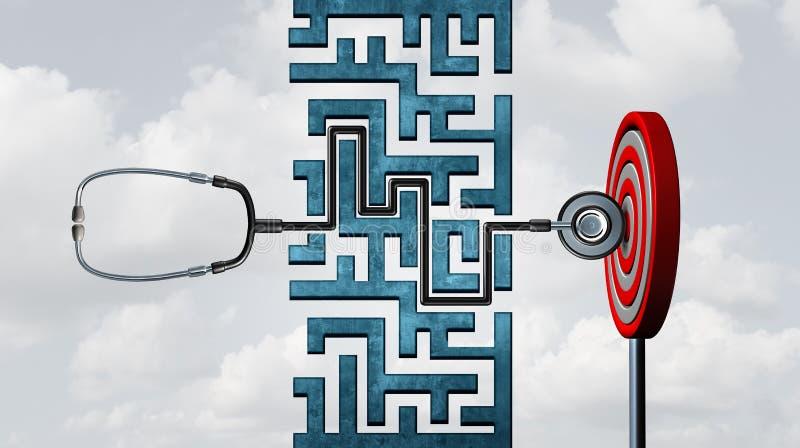 Éxito del cuidado médico stock de ilustración