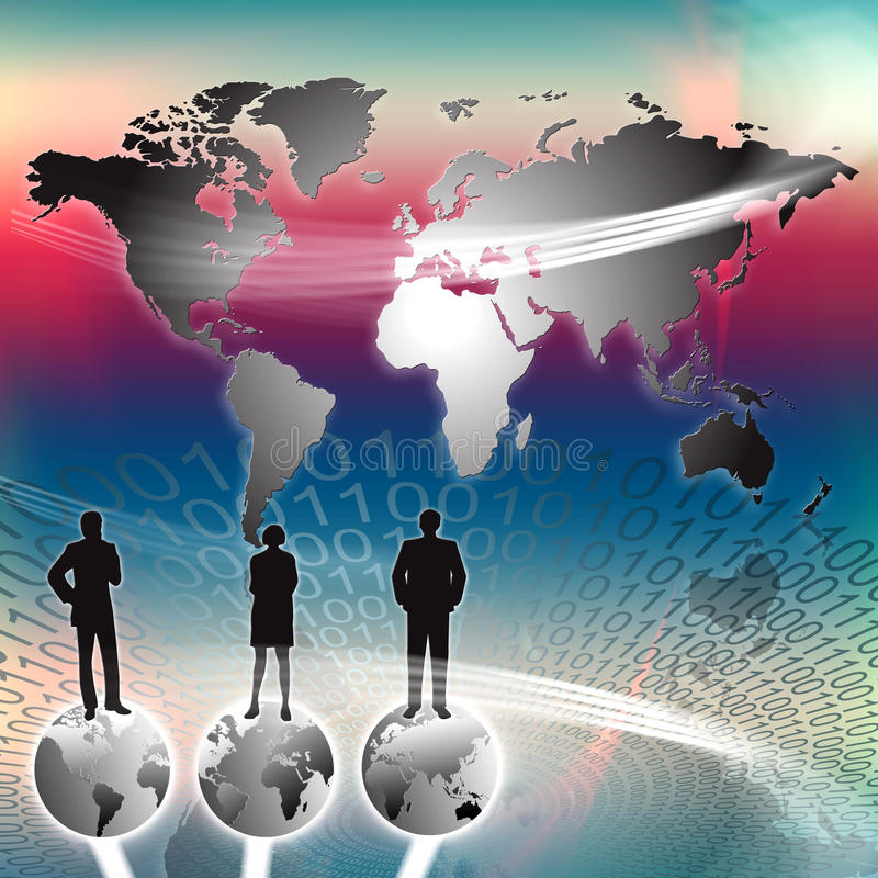 Éxito del mundo de la comercialización ilustración del vector
