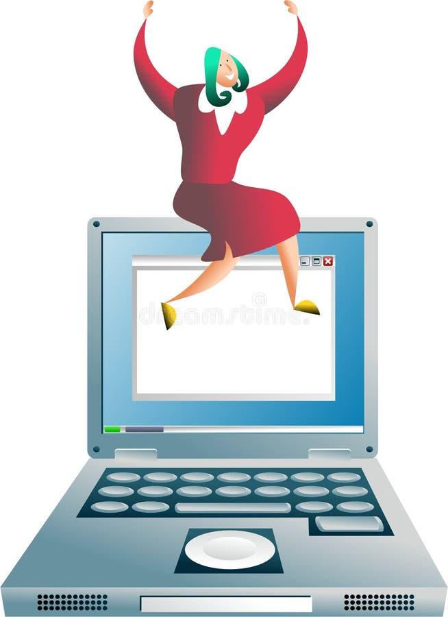 Éxito del ordenador stock de ilustración